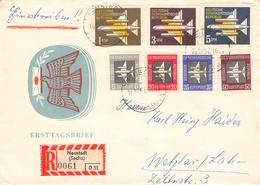 DDR - RECOBRIEF 1957 FLUGPOST Mi #609-615 - DDR