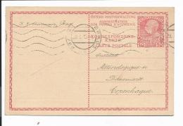 Österreich P 217  - 20 H. KFJ  M. Rs Zudruck Sternwarte  V.  Prag Nach Kopenhagen Bedarfsverwendet - Entiers Postaux