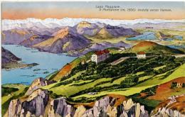 MOTTARONE  VERBANIA  Veduta Verso Varese  Lago Maggiore  Lago Di Varese - Verbania