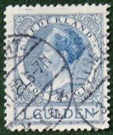 1 Gld Wilhelmina Perf 11 1/2 NVPH 163 163A (Mi 168 A) 1926 1930 Gestempeld / USED NEDERLAND / NIEDERLANDE - Period 1891-1948 (Wilhelmina)