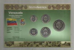 Monnaie , VENEZUELA ,  Trésor Du Patrimoine, UNC , SET DE 5 PIECES , 2 Scans,  Frais Fr : 2.70 E - Venezuela