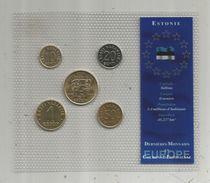 Monnaie , Estonie , FDC Sous Blister D'origine , Dernieres Monnaies En Couronne Estonienne , Blister De 5 PIECES - Estonie