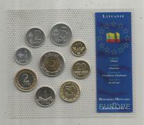 Monnaie , Lituanie , FDC Sous Blister D'origine , Dernieres Monnaies En Litas , Blister De 9 PIECES - Lithuania