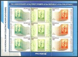 Pilipinas - Philippines (2016) - MS -  /  Timbre Sur Timbre - Stamp On Stamps - Sello Sobre Sello - Postzegels Op Postzegels