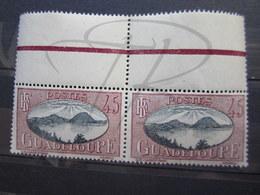 VEND BEAUX TIMBRES DE GUADELOUPE N° 109 EN PAIRE , XX !!! - Unused Stamps