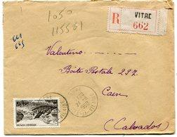ILLE Et VILAINE De VITRE  Env. Recom. De  1950 Avec Dateur A 6 - Poststempel (Briefe)