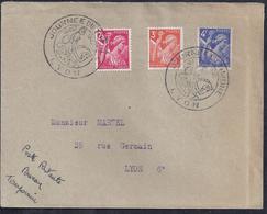Enveloppe Locale Journée Du Timbre 1945 Lyon Iris - Covers & Documents