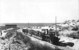 Bassin D'ARCACHON - Cap Ferret, Le Petit Train Dans Les Dunes - CPSM - Arcachon