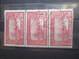 VEND BEAUX TIMBRES DE GUADELOUPE N° 68 EN BANDE DE 3 , XX !!! - Unused Stamps