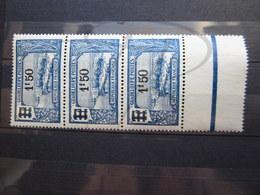 VEND BEAUX TIMBRES DE GUADELOUPE N° 95 EN BANDE DE 3 , XX !!! - Unused Stamps