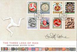 Man FDC Série The Three Legs Of Man 13/04.2013 Signé - Man (Ile De)