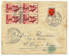 Enveloppe Complète - Cachet Journée Du Timbre - Bordeaux 20-03-1954 - Cartas