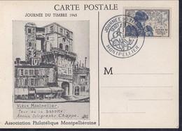 Carte Locale Journée Du Timbre 1945 Montpellier - France
