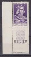 France Année 1955 N° 1027** Coin Numéroté Lot 654 - France