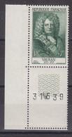 France Année 1955 N° 1029** Coin Numéroté Lot 655 - France