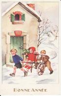 Bonne Année,Enfants,  J Lagarde , Non Signée, 2 Scans - Nouvel An