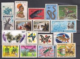 Lot 40 Rwanda Small Collection 17 Different, MNH-13, Mint-4 - Rwanda