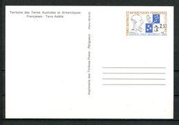 TAAF 1991 Entier N° 1 ** Neuf MNH Superbe C 4,50 € Max Douguet Faune Oiseaux Manchots Birds Animaux - Enteros Postales