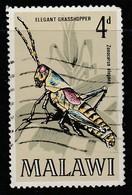 Malawi 1970 Insects Of Malawi 4p Multicoloured SW123 O Used - Malawi (1964-...)