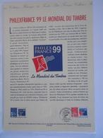 Document Philatélique Philexfrance 1999** - 1990-1999