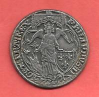 JETON COLLECTION BP , ANGE D'OR PHILIPPE VI , 1341 , LE TRESOR DES ROIS DE FRANCE N° 10 - Professionnels / De Société