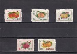 Corea Del Norte Nº 301 Al 305 - Corea Del Norte