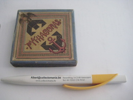 1 Boite (doos, Box) RARE C1900 Litho Problem PYTHAGORAS, Complete Perfect, With Booklet, Mit Buchlein 9cmX9cm RICHTER - Antikspielzeug