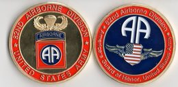 WW2 - Pièce De Collection -82nd Airborne Division - Army & War