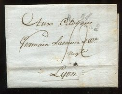 Frankreich / 1809 / Vorphila-Bf. L2-Stempel BAYONNE (14239) - Poststempel (Briefe)