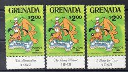 GRENADE Timbres Neufs ** De 1981   ( Ref478 ) Disney -Pluto 50ème Anniversaire - Grenada (1974-...)