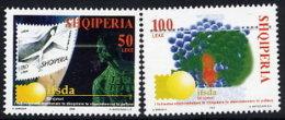 ALBANIA 2002 Stamp Dealers' Association Anniversary Set Of 2    MNH / **.  Michel 2889-90 - Albania