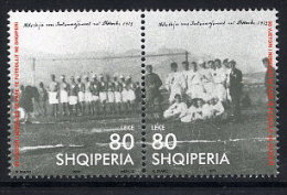 ALBANIA 2003 Albanian Football  Anniversary Set Of 2   MNH / **.  Michel 2949-50 - Albania