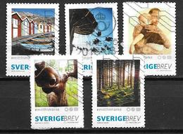Suède 2017 N° 3151/3155 Oblitérés Photos De Concours - Sweden