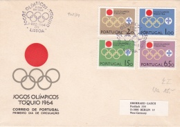 Portugal FDC 1964 Olympic Games Tokyo (G93-26) - Sommer 1964: Tokio