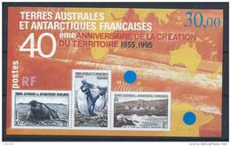 TAAF Neuf  Bloc N° 2 De 1995 40 Ans Du Territoire - Blocs-feuillets