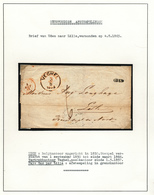 015/27 - NEDERLAND / FRANCE Lettre Non Affranchie Griffe UDEN  Via VEGHEL 1865 Vers LILLE - 1852-1890 (Guillaume III)