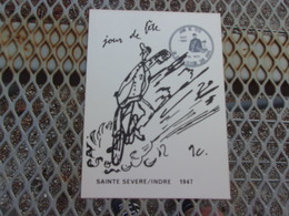 FRANCE (1987) Jour De Fete , Saint Severe , Indre - Maximum Cards