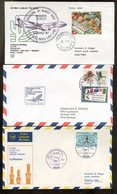 Weltweit / 1971 Ff. / 3 Int. Erstflugbfe. (14276-20) - Lots & Kiloware (mixtures) - Max. 999 Stamps
