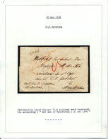 019/27 - NEDERLAND  -  Enveloppe De Documents Transportée à AMSTERDAM Par RIJNSPOORWEG - 2de Spoortrein 22 Mei 1848 - Pays-Bas