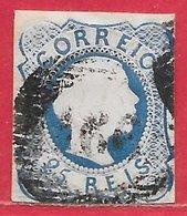 Portugal N°6 25r Bleu 1855-56 O - Oblitérés