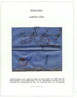 020/27 - NEDERLAND RIJNSPOORWEG  -  Lettre De Griffe AMERONGEN Via Halte MAARSBERGEN 1858 Vers ARNHEM - 1852-1890 (Guillaume III)