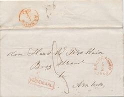 021/27 - NEDERLAND RIJNSPOORWEG  -  Lettre De ELST Via Griffe AMERONGEN Via Halte VEENENDAAL 1863 Vers ARNHEM - 1852-1890 (Guillaume III)