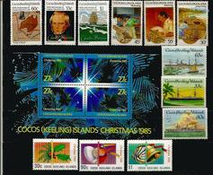 Lot De 16 Timbres Neufs ILES COCOS En Séries Complètes, (including Charles Darwin Visit 1832,ships,etc) Côte 35,00 € EUR - Cocos (Keeling) Islands