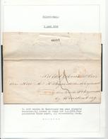 022/27 - NEDERLAND SPOORWEG  - Faire-Part Nobless De COTHEN Via Griffe DOORN Via Halte DRIEBERGEN 1860 Vers SCHERPENZEEL - 1852-1890 (Guillaume III)