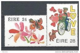 Irlande 1987 N°616/617 Neufs ** Messages D'Amour - 1949-... Repubblica D'Irlanda