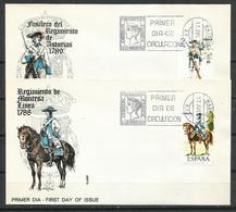 España. SPD. 1975. Uniformes Militares. V Grupo. - FDC