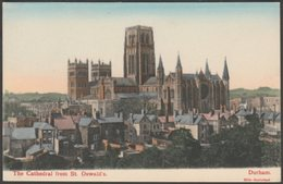 The Cathedral From St Oswald's, Durham, C.1905 - Hills Aquatint Postcard - Durham