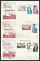 España. SPD.  1967. Forjadores De América. Serie Completa. - FDC