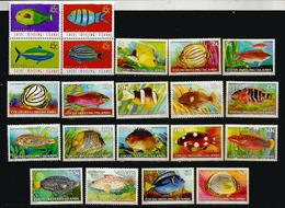 Poissons Des ILES COCOS. Océan Indien, 21 Timbres Neufs ** En Séries Complètes.  Côte  30,00  € EUR - Cocos (Keeling) Islands
