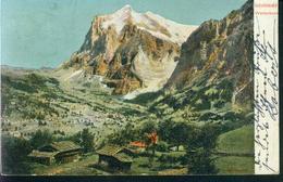 Rarität AK Grindelwald Litho Wetterhorn 5.9.1904 Nach Cöln - BE Berne